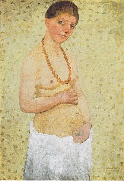 Paula Moderson Becker Selbstbildnis am 6 Hochzeitstag 1906